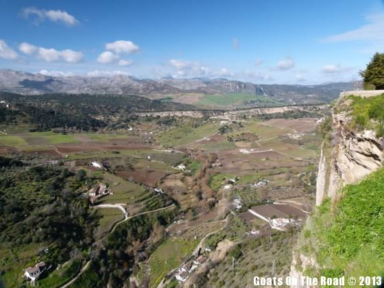 view from ronda spain
