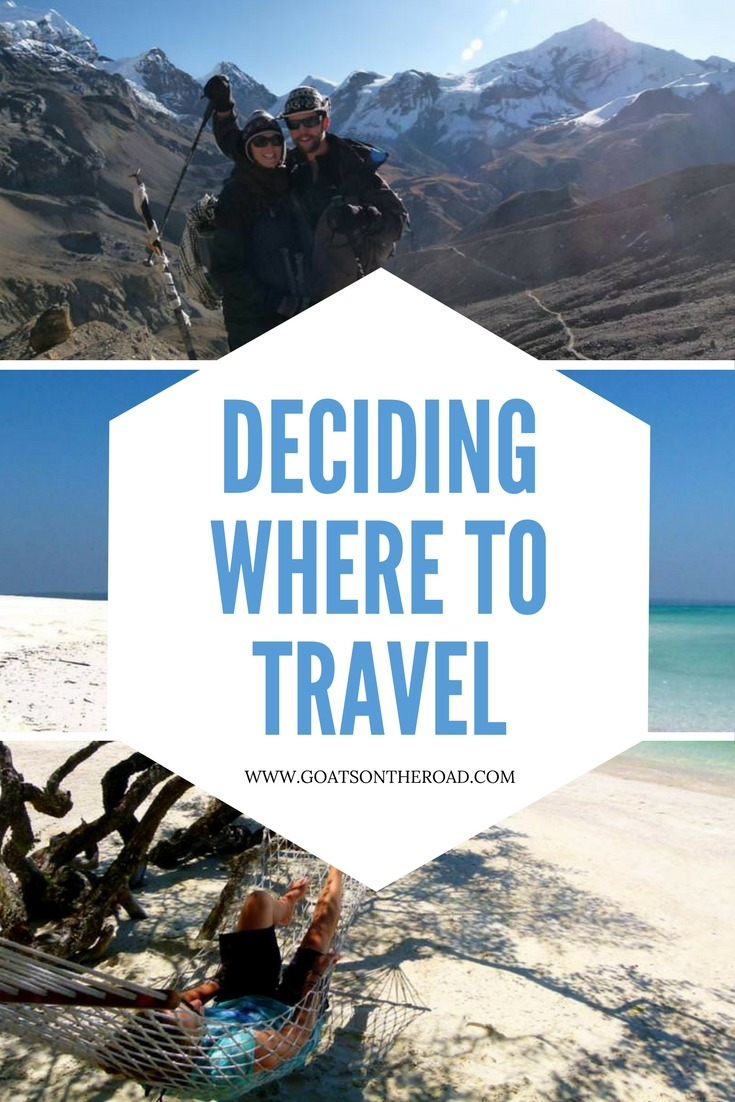 Deciding Where To Travel