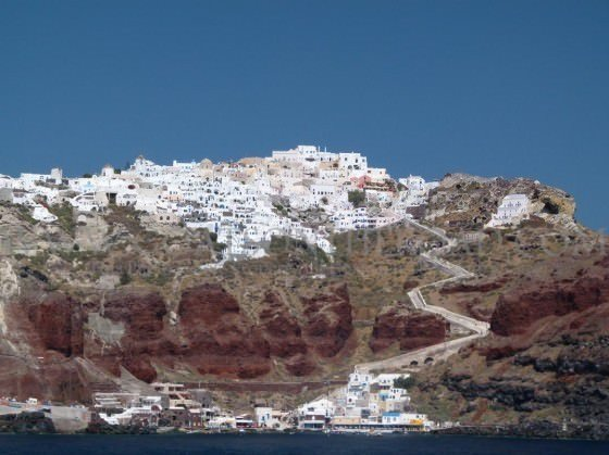 view of santorini island