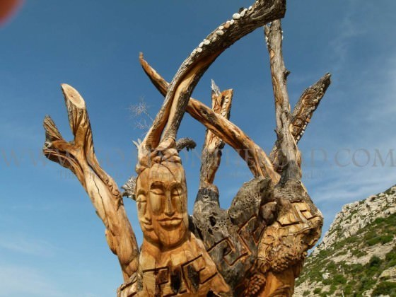 Amazing tree art! Matala, Crete, Greece.