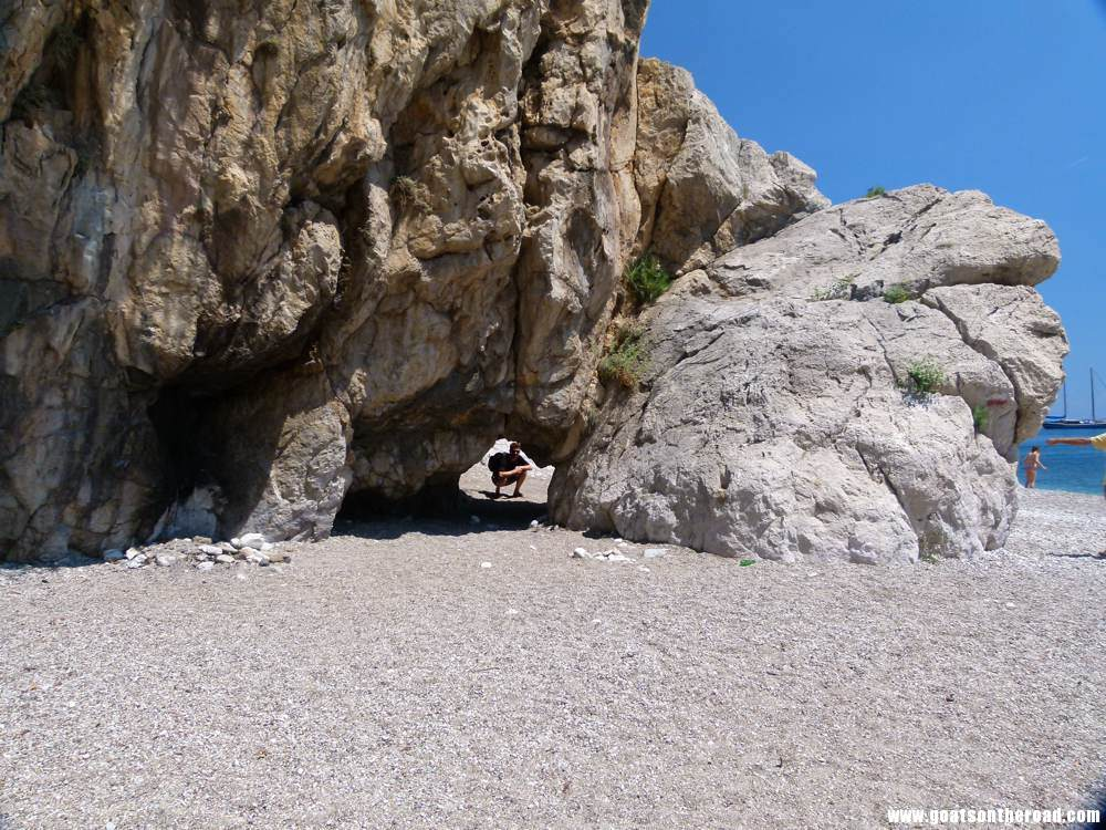 Rock formations on the beach at Olympos, Turkey