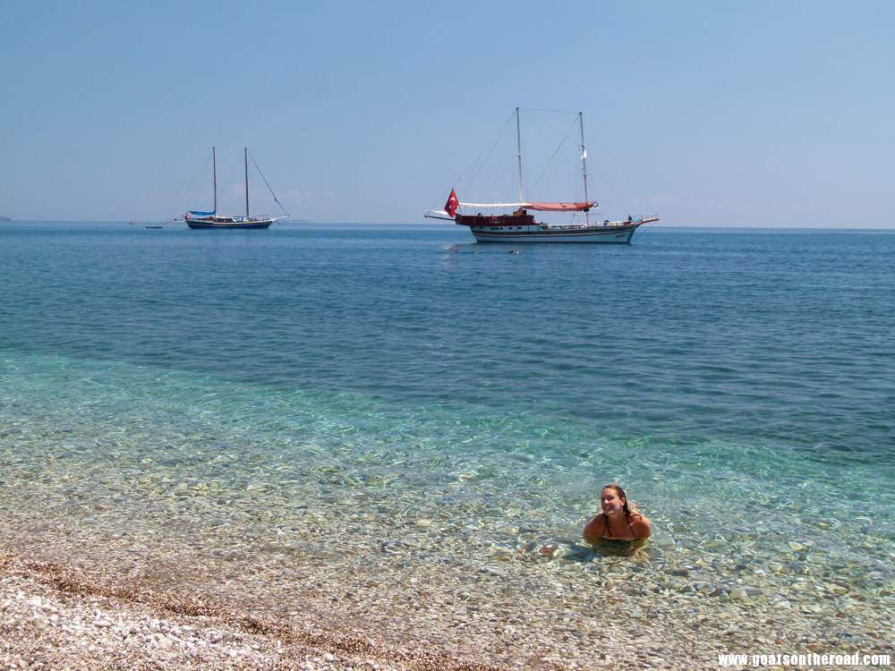Relaxing in the beautiful Mediterranean waters, Olympos, Turkey