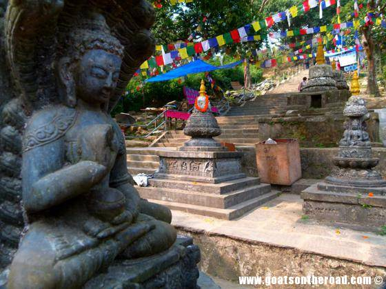 budget backpacking, travel kathmandu nepal, monkey temple