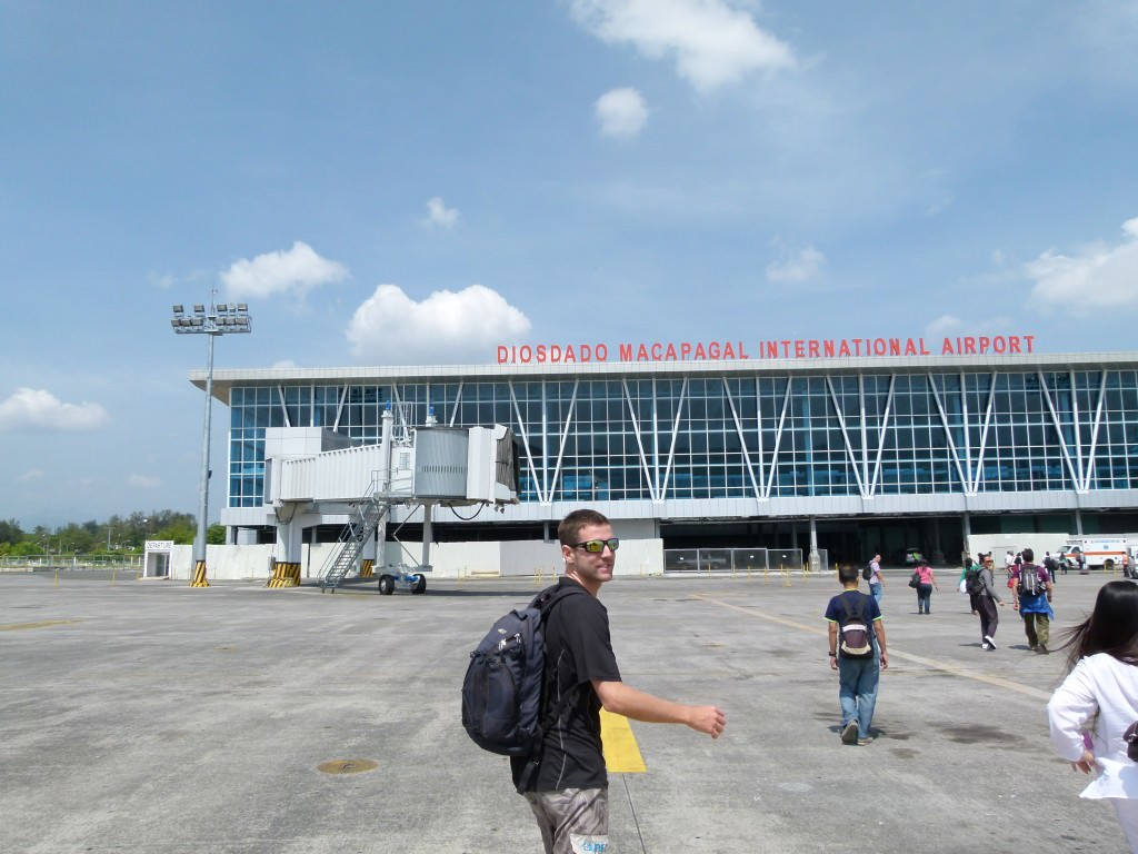 Arriving at the Clark Airport