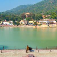 Yoga In Rishikesh, India: On The Banks Of The Ganges River