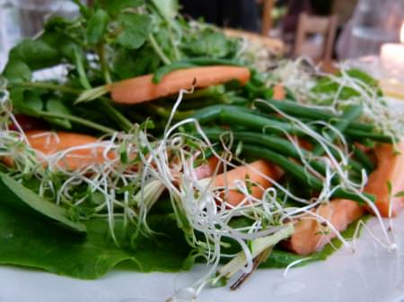 a fresh, organic garden salad at Cafe By The Ruins