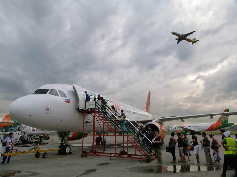 Our Flight Leaving Manila