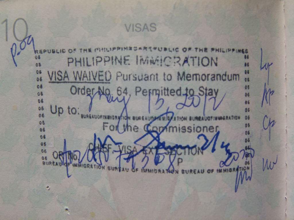 Extended Philippine Visa