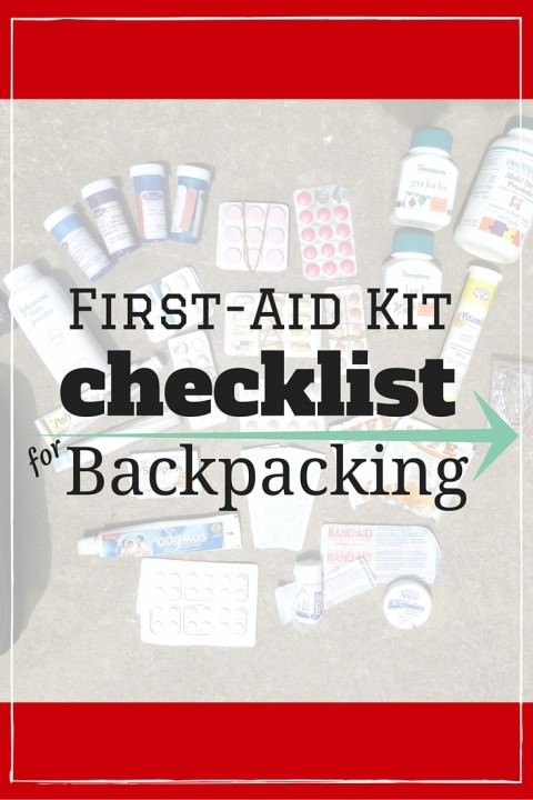 First-Aid Kit Checklist For Backpacking