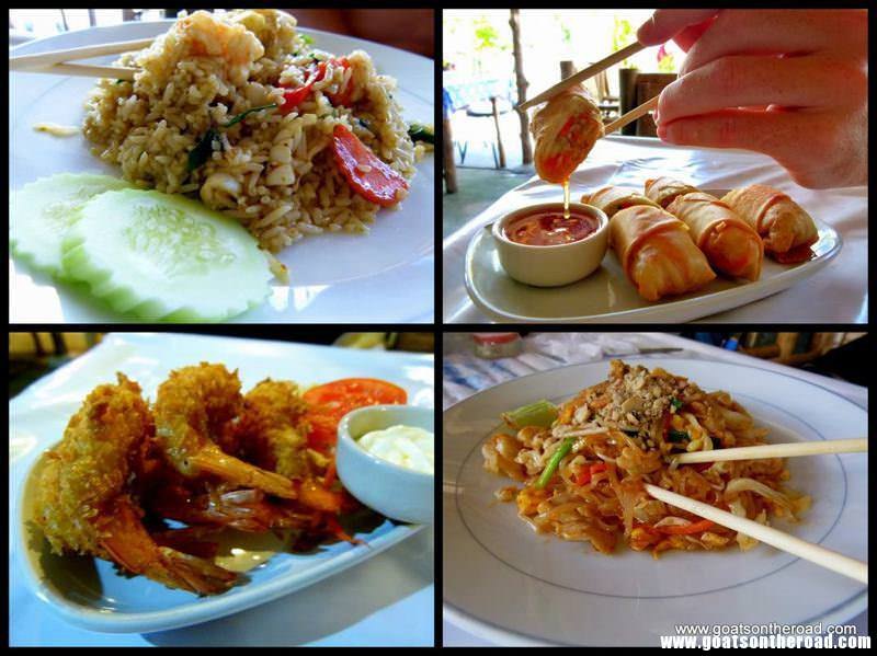 4 pictures of traditional Southeast Asian food