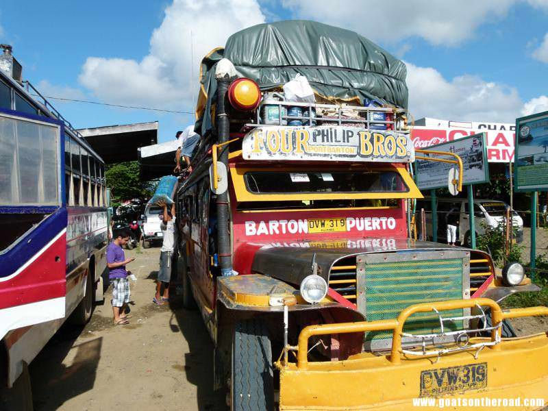 the once daily jeepney from Puerto Princesa to Port Barton, Philippines