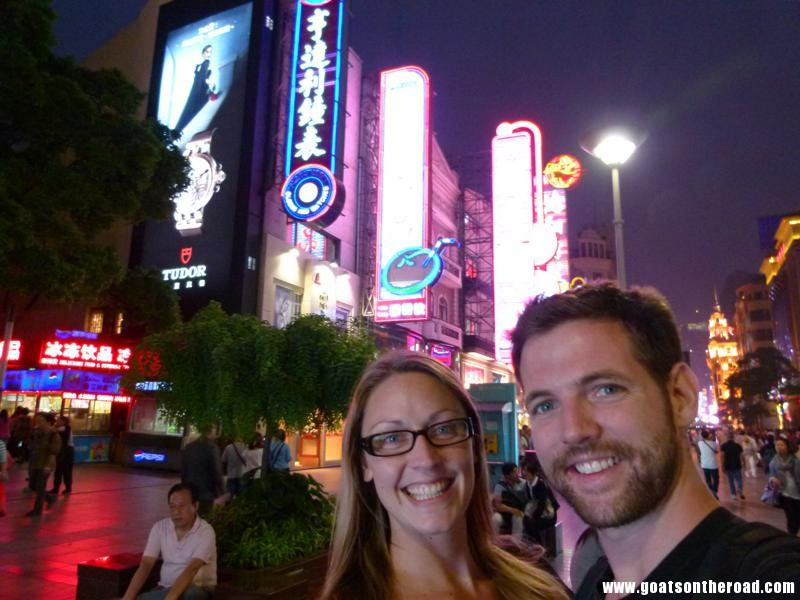 Budget Backpacking Couple In Shanghai