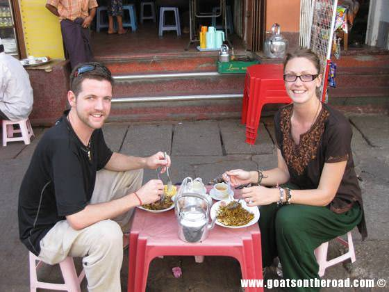 where to eat in yangon, myanmar, backpacker budget