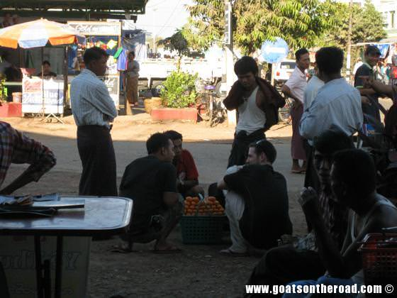 getting to Bagan from Yangon, budget backpackers, bus terminal