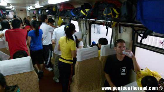 Hard Seater train from Guilin to Liuzhou, China