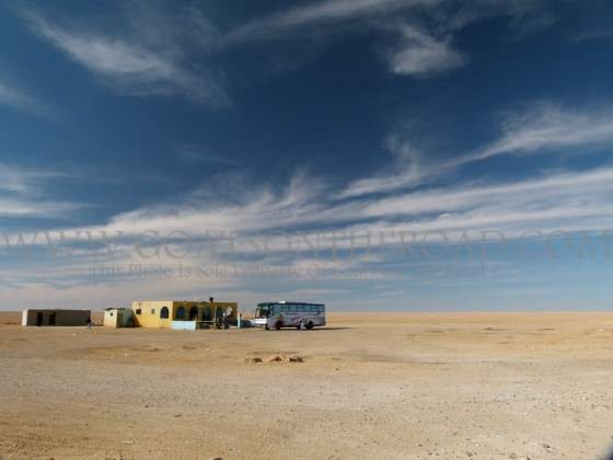 A Desert Bus Stop