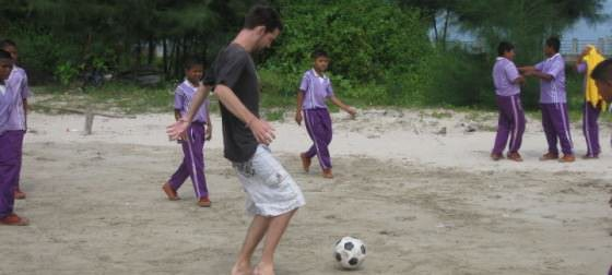 Backpacking Thailand Playing Football With The Thai Kids