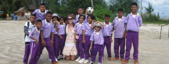 Friendly Kids While Backpacking Thailand