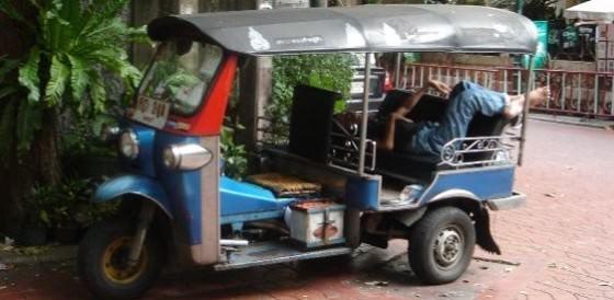 Sleepy Tuk-Tuk Driver In Bangkok