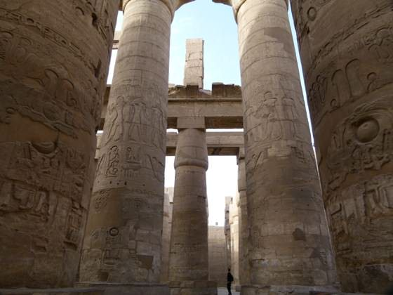 columns at the Temple of Karnak, Luxor