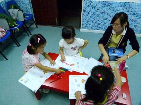 T.A Helping With Class Teaching English In China