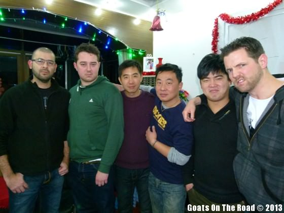 friends at christmas in china