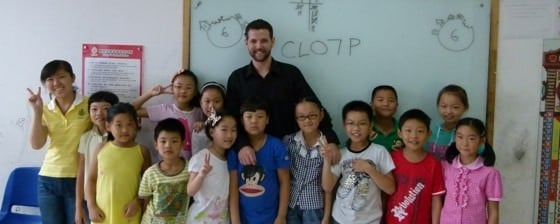 teaching in china a class of CL07 students