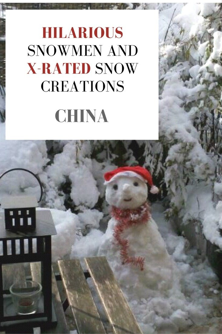 Hilarious Snowmen and X-Rated Snow Creations From China