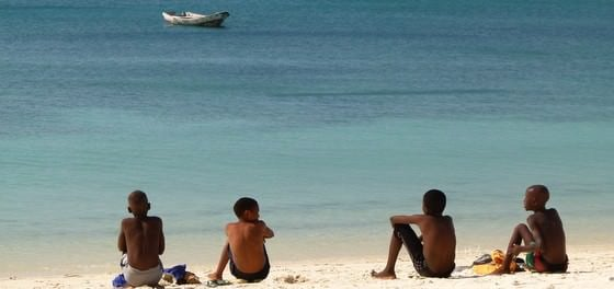 Mozambique Travel Mozambican Boys On Pemba Beach