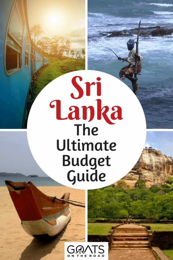 various images of sri lanka with text overlay the ultimate budget guide