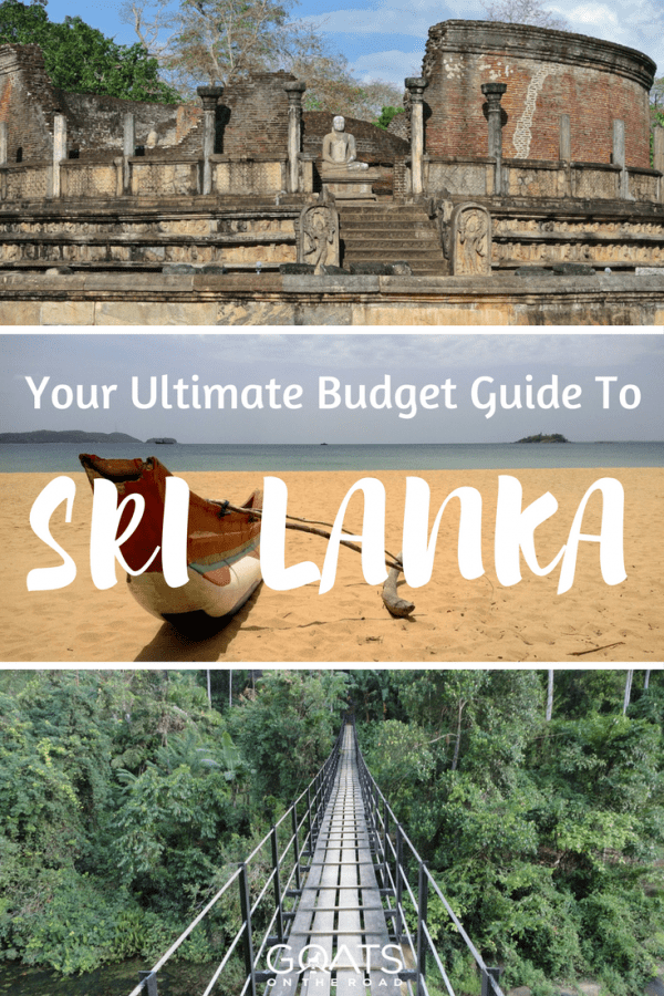 temples and jungle in sri lanka with text overlay