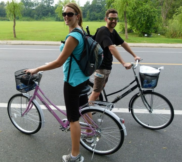 Us on our new bicycles!