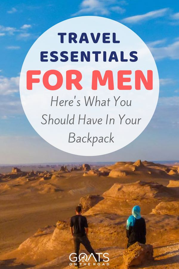 Iran landscape with text overlay Travel Essentials For Men