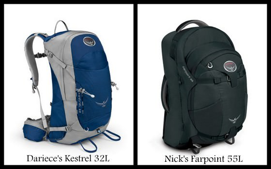 choosing a backpack osprey farpoing