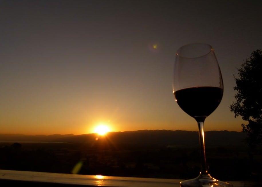 inle lake sunset winery