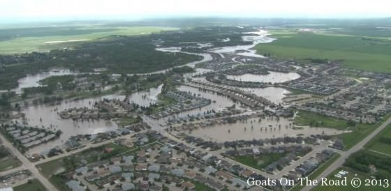 An Ariel View Of The Floods