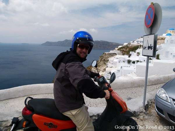 renting a scooter in santorini