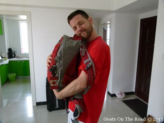 A Backpacker Loves His Backpack
