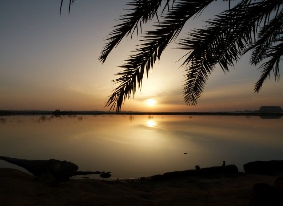 beautiful quote about siwa oasis sunset