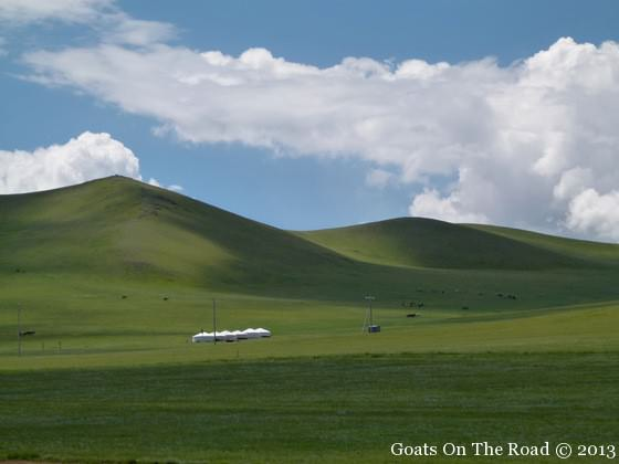 scenery from the trans mongolian
