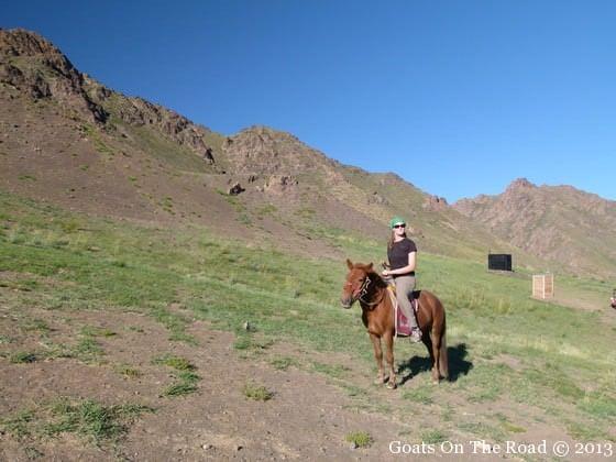 horse riding in the gobi desert