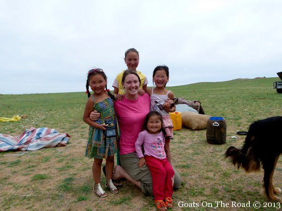 children in the gobi desert