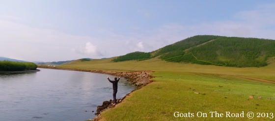 Fishing The Chulut River when traveling mongolia