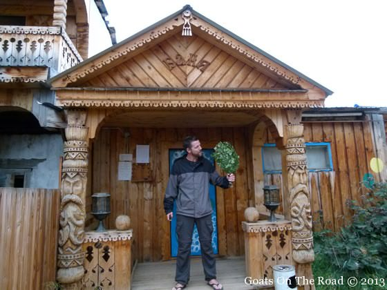 Outside Of A Russian Banya