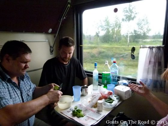 eating on the trans siberian