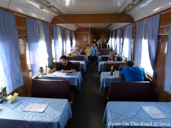 restaurant train car