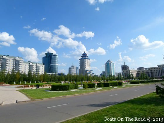 Pulling Into Astana by bus from omsk