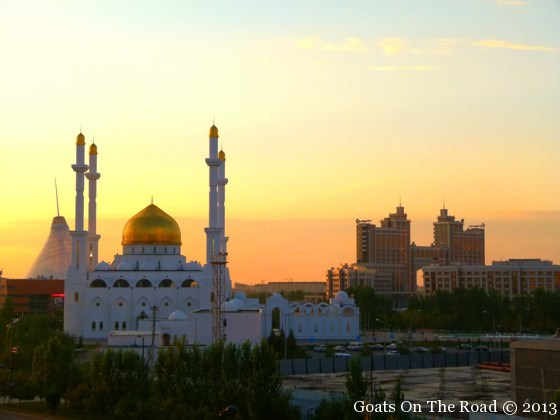Nur Astana Mosque At Sunset