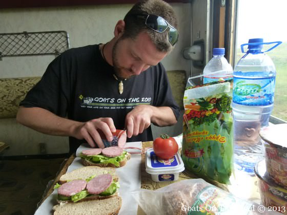 lunch on the trans siberian train
