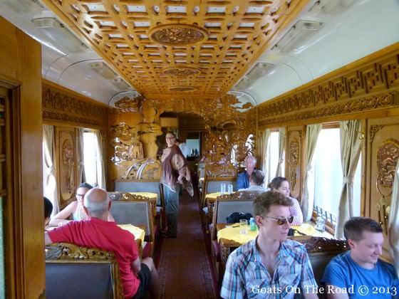trans-mongolian restaurant car